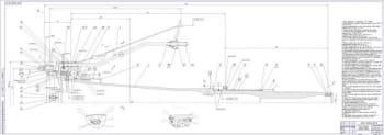 1.Чертеж сборочной единицы - опора вентилятора с валом, модуль - 2 листа (формат 2хА2)