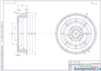 Восстановление тормозного барабана автомобиля ВАЗ 2108