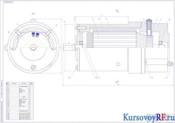 Расчет коллекторного двигателя мощностью 0,17кВт кратковременного режима работы с применением феррит бариевых постоянных магнитов