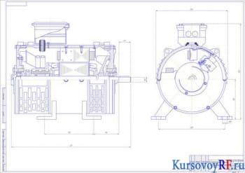 Курсовой расчёт электродвигателя постоянного тока коллекторного типа мощностью 0,5кВт