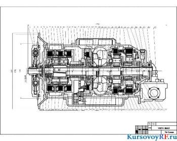 Конструкция коробки передач с расчетом передаточных чисел зубчатых колес