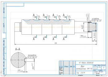 Ремонт и восстановление промежуточного вала коробки передач автомобиля ЗИЛ-130