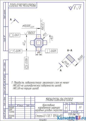 Конструирование рулевого управления автомобиля на примере ИЖ 2126