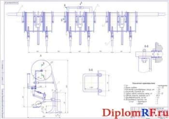 Устройство для раскладки капельной ленты для  возделывания репчатого лука