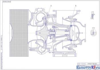 Курсовой расчет турбокомпрессора судового ДВС