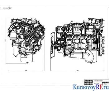 Курсовой расчет автомобильного двигателя КамАЗ-740