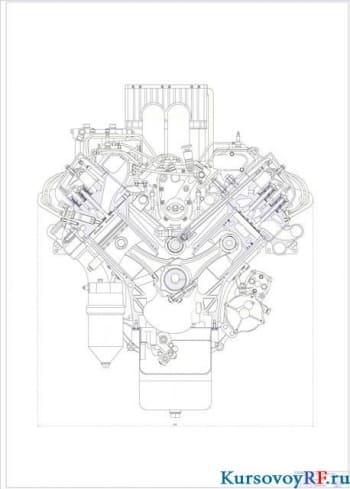 Расчет четырехтактного шестицилиндрового дизельного двигателя с наддувом двигателя КАМАЗ-740