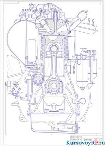 Расчет двигателя внутреннего сгорания Д-144