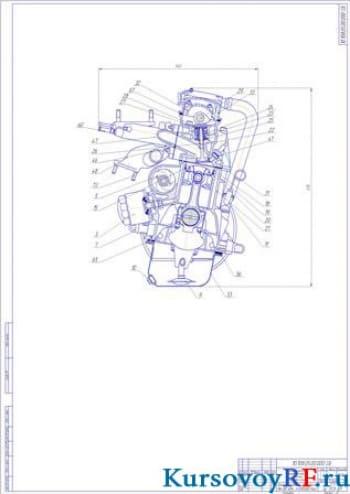 Расчет автомобильного четырехтактного двигателя