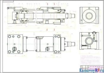 Конструирование гидравлического привода подач с цилиндрами вертикального расположения