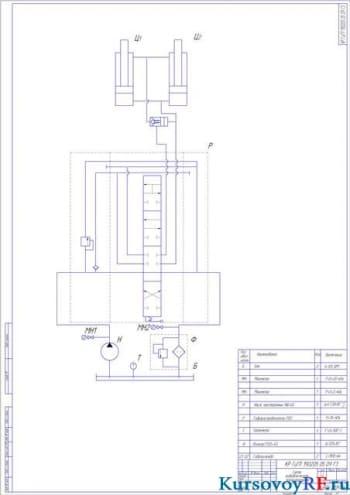 Разработка гидропривода рабочего оборудования строительно-дорожной машины