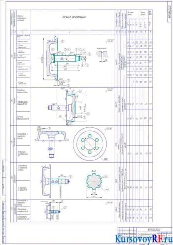 Создание маршрута обработки детали «Приводной каток»