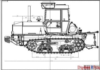 Модернизация конструкции ходовой части трактора ВТ-150