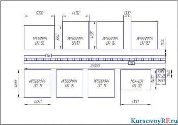 Компоновка гибкого автоматизированного участка по изготовлению корпусных деталей