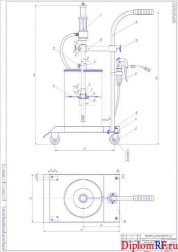 Проект организации технического обслуживания тракторов с разработкой мобильного нагнетателя пластичной смазки