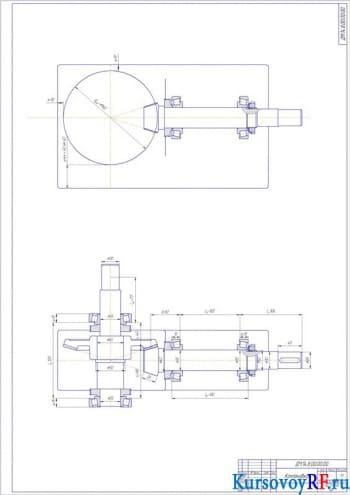 Создание привода ковшового элеватора: разработка конического одноступенчатого редуктора для привода