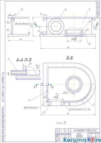 Сборка червячного редуктора цепного конвейера