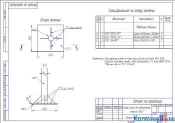 Проектирование конструкции опоры для радиоантенны