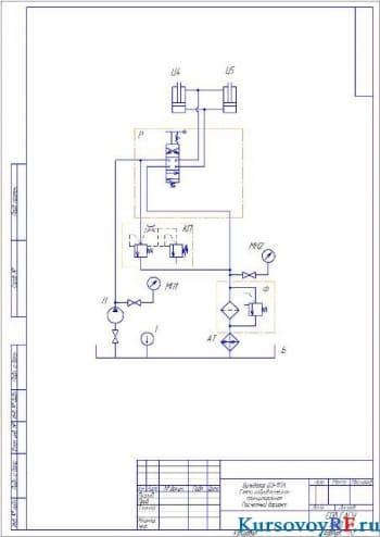 Проектирование и расчет гидравлического привода для бульдозера с рыхлителем