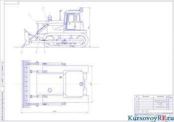 Основные параметры и характеристики бульдозера с расчетом усилий, действующих на исполнительные механизмы