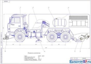 Расчет и проектирование подметально-уборочной машины на базе автомобиля марки КамАЗ