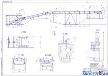Расчет ленточного конвейера