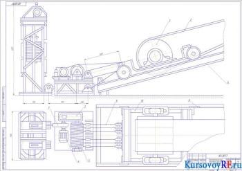 Расчет ленточного конвейера с расчетом основных параметров
