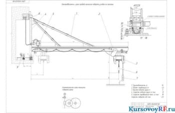Кран консольный настенный поворотный, грузоподъемностью 1.6 тонн