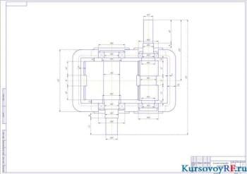 Расчет привода из клиноременной передачи одноступенчатого шевронного редуктора