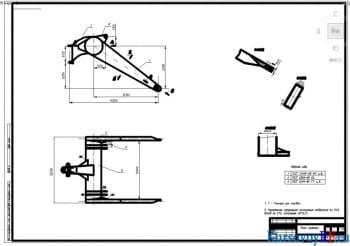 Проектирование рамы скрепера самоходного типа