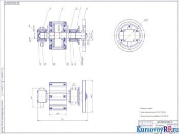 Конструкция дробилки валковой: общий вид, сборочный и детали