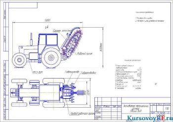 Проект экскаватора траншейного цепного с расчетом силовых механизмов