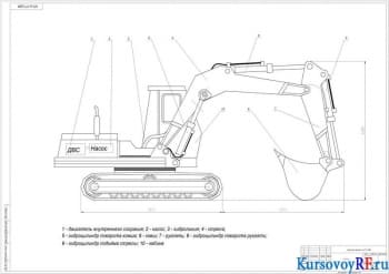 Проект гидропривода полноповоротного одноковшового гусеничного экскаватора ЭО-4121