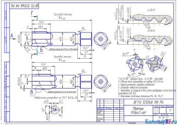 Курсовое проектирование фасонного и резьбонарезающего инструмента с разработкой рабочих чертежей