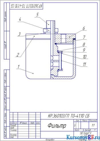 Разработка объемного гидропривода продольно – строгальной установки с расчетом фильтра