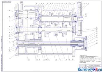 Курсовое проектирование коробки скоростей для станка-прототипа модификации 67К25ПФ2-0