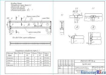 Курсовое исследование технологии сварки и сборки металлической балки