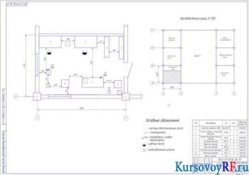 Чертеж разработки участка топливной аппаратуры АТП на 306 автомобилей МАЗ-64221