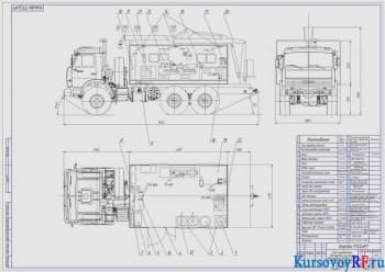 Проект укладки земляного полотна с разработкой полевого парка и передвижной мастерской на базе КАМАЗ
