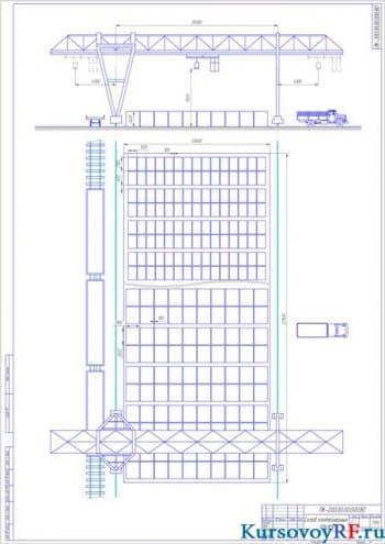 Схемы и расчеты для погрузки речного порта