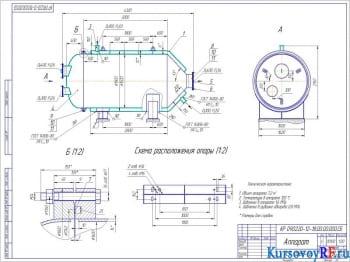 Расчет цилиндрического аппарата для химического производства