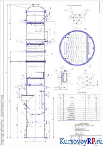 Расчетный проект колоны ректификационной тарельчатой