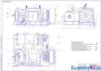 Курсовой расчет ленточного тормоза буровой лебёдки БУ 2000/125 ЭП1