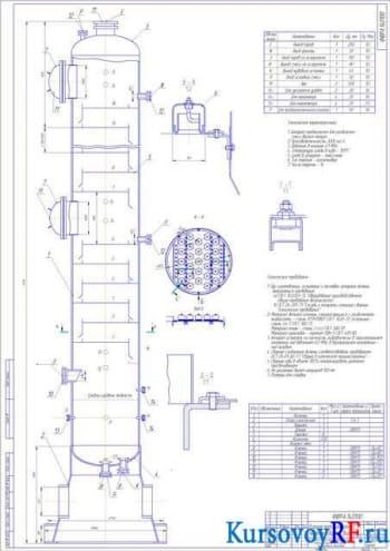 Курсовой расчет ректификационной установки по разделению бинарной смеси