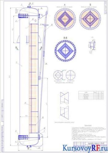 Курсовой проект вертикального кожухотрубного теплообменника для охлаждения продукта 54 т/ч