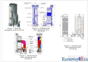 Курсовое проектирование производственного элеватора на 55000 т.