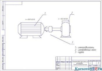 Электропривод оросительной установки
