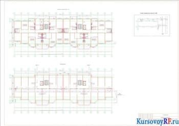 План подвала, план первого и типового этажей, генплан, профиль канализационной сети