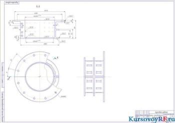 Деталь корпус направляющего подшипника (формат 2хА 1)