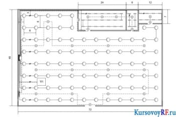 Разработка встроенной подстанции освещения цеха